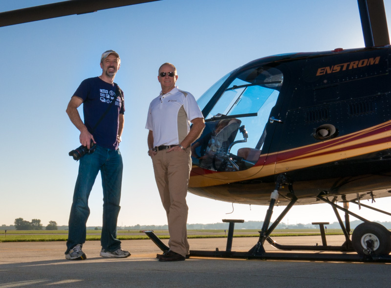 Aerial Photographer Stuart Meade with Pilot Randy Sharkey