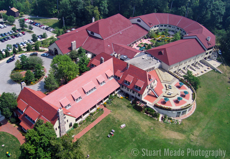 Inn at Pokagon State Park  Aerial Photo