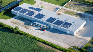 Indiana Solar Panels on Rooof Top in Milford