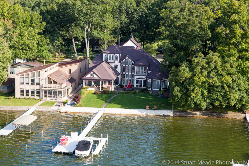 Wawasee lake home aerial photo services