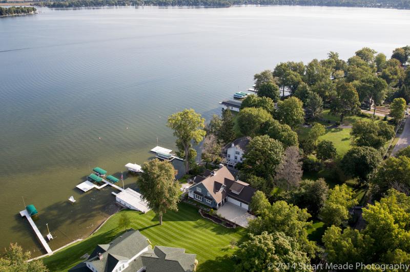 lake wawasee aerial photography
