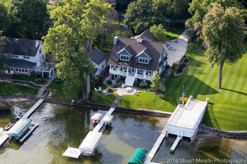 Lake home sales aerial photography