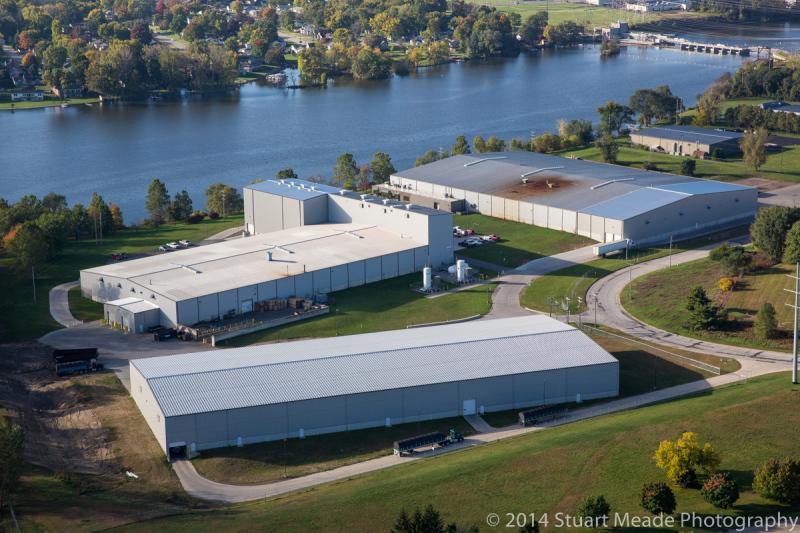 Mishawaka manufacturer aerial photography