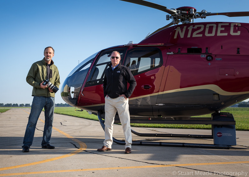 Aerial Photographer Stuart Meade with Pilot Randy
