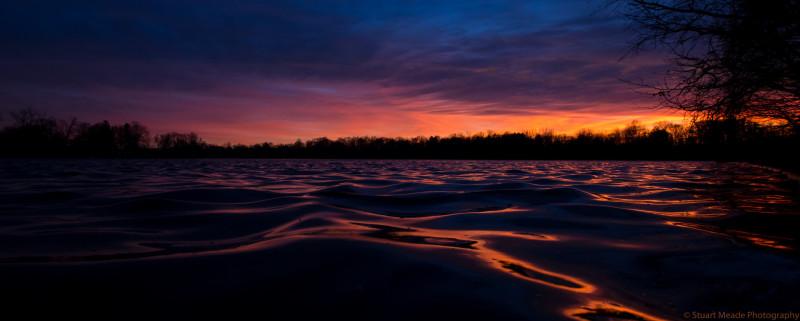 Goshen Dam Pond Sunset