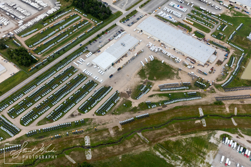 RV manufacturing aerial photo